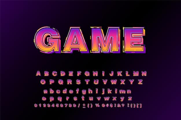 Wielki Krój Pogrubiony Typografii 3d Bezszeryfowy Styl Plakatu Premium Wektorów