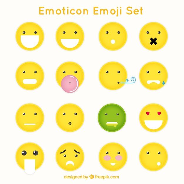 Wielkie emotikony z różnych gestów Darmowych Wektorów