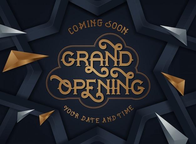 Wielkie otwarcie ulotka lub karta zaproszenie Premium Wektorów