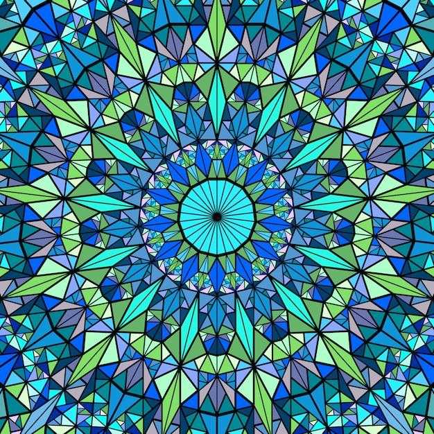 Wieloboczne Geometryczne Kolorowe Okrągłe Mozaiki Mandali Tło Premium Wektorów