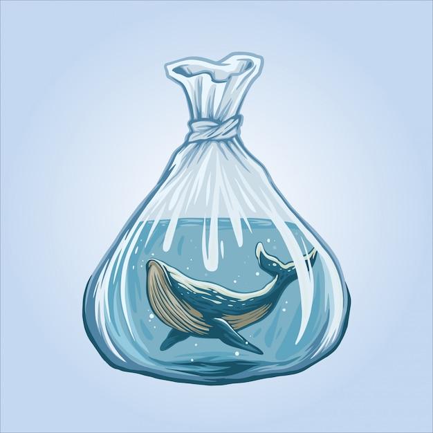 Wieloryby nie są darmową ilustracją Premium Wektorów