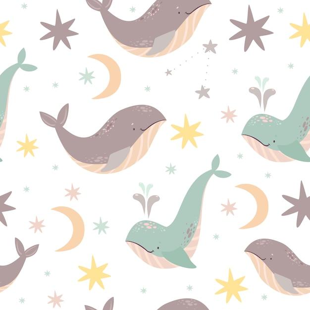 Wieloryby Wzór Darmowych Wektorów