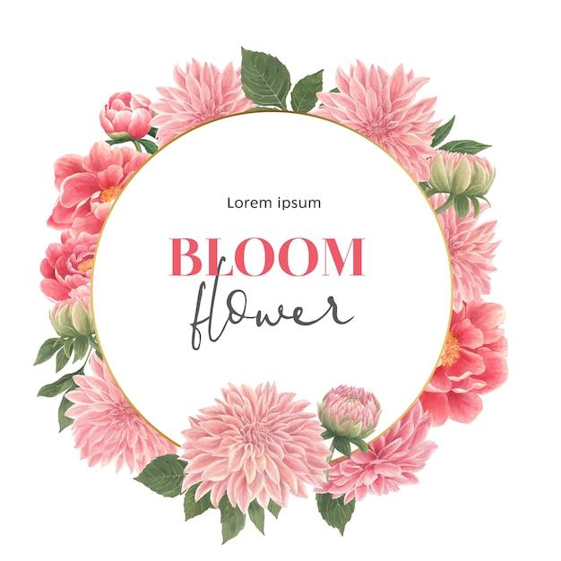 Wieniec z kwiatów botanicznych Darmowych Wektorów