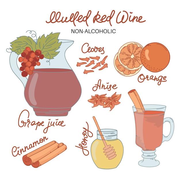 Wino Niepełne Alco Premium Wektorów
