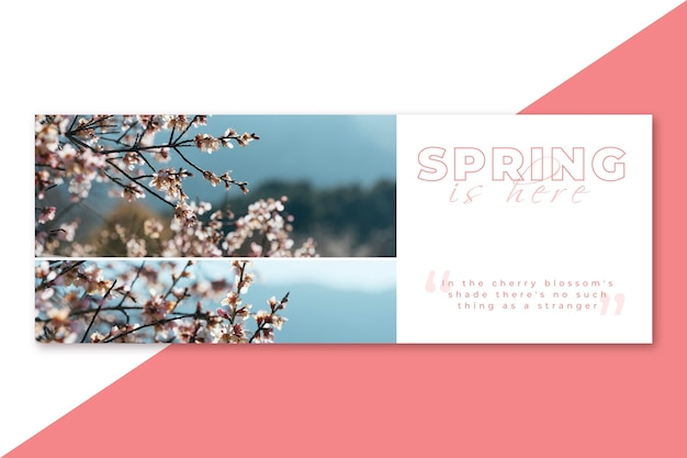 Wiosenna Okładka Na Facebooku Darmowych Wektorów