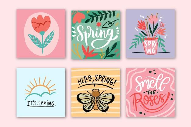 Wiosenna Wyprzedaż Na Instagramie Darmowych Wektorów