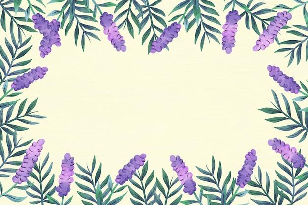 Wiosenne Kwiaty Kopia Przestrzeń Kwiatowy Tło Darmowych Wektorów