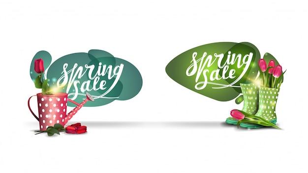 Wiosenne odznaki sprzedaży Premium Wektorów