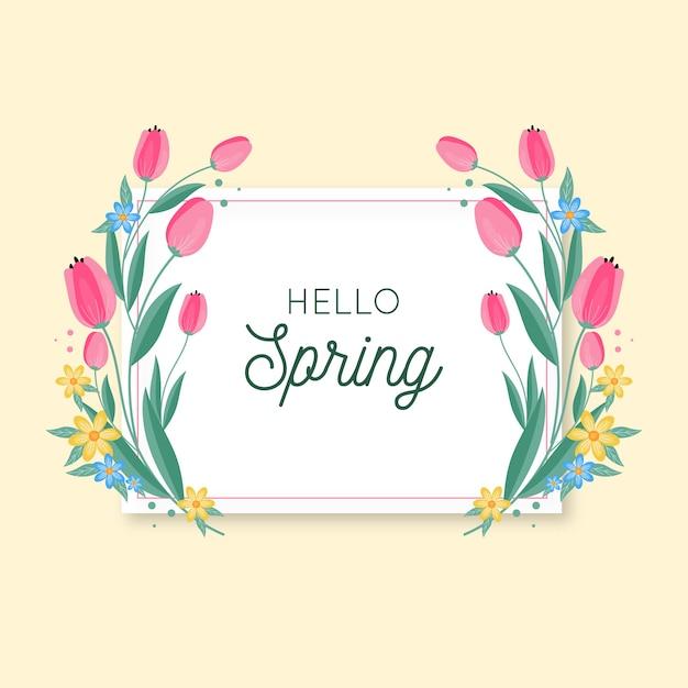 Wiosna Kwiatów Ramki Z Tulipanami Darmowych Wektorów
