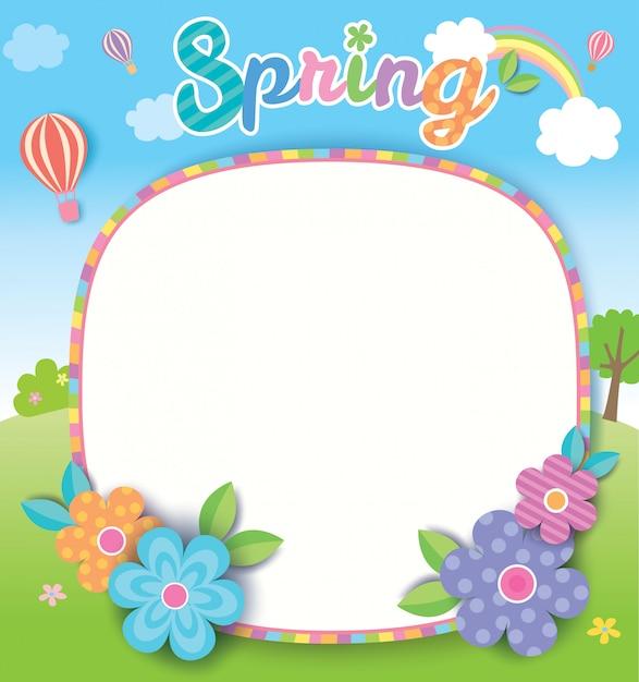 Wiosna-natura-szablon Premium Wektorów