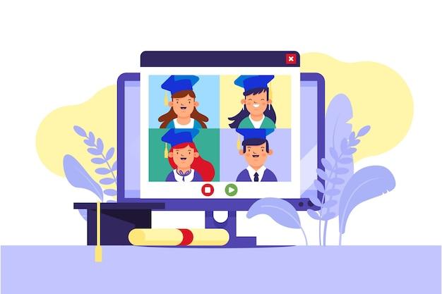 Wirtualna Ceremonia Ukończenia Szkoły Darmowych Wektorów