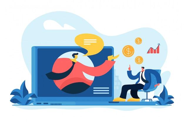 Wirtualna Sprzedaży Pojęcia Wektoru Ilustracja. Premium Wektorów