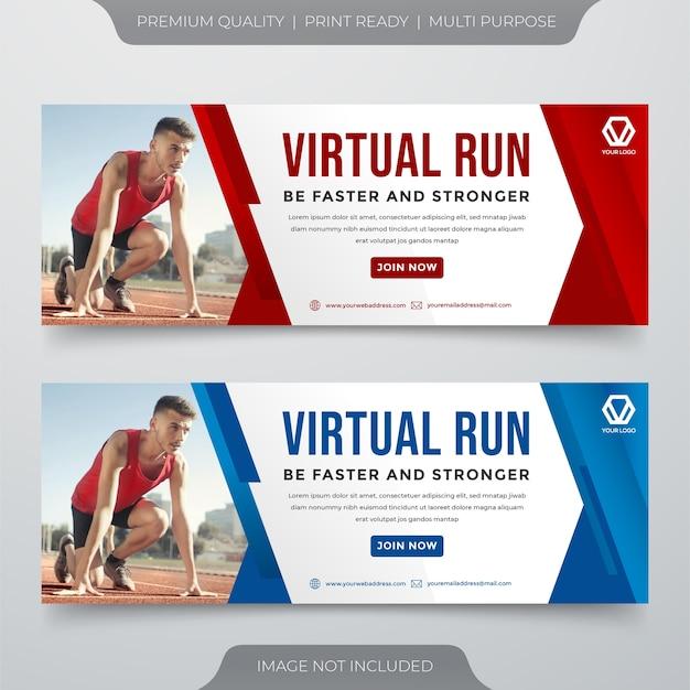 Wirtualny Szablon Banera Mediów Społecznościowych Premium Wektorów