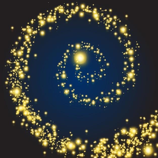 Wirują Magiczne Gwiazdy. Blask Magicznej Spirali Z Efektem Brokatu, Ilustracji Wektorowych Darmowych Wektorów