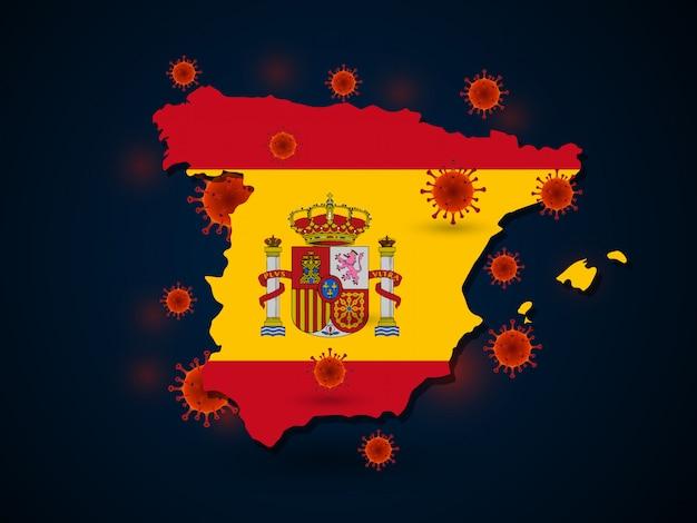 Wirus W Hiszpanii Premium Wektorów