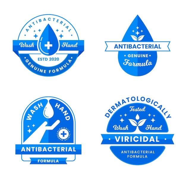 Wirusowe I Bakteriobójcze Etykiety Czyszczące Premium Wektorów
