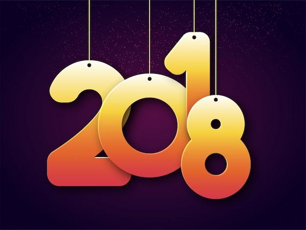 Wisi 2018 Złoty Tekst Na Obchody Nowego Roku Premium Wektorów
