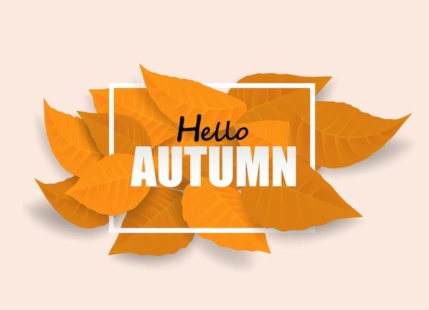 Witaj, Jesieni Premium Wektorów