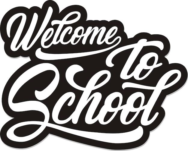 Witaj W Szkole Premium Wektorów