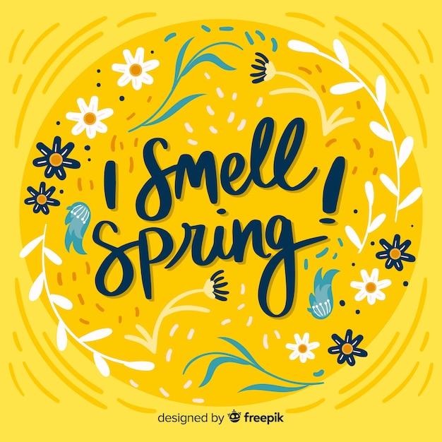 Witaj wiosna tło Darmowych Wektorów