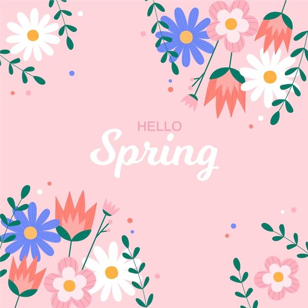 Witaj Wiosno Kolorowe Tapety Darmowych Wektorów