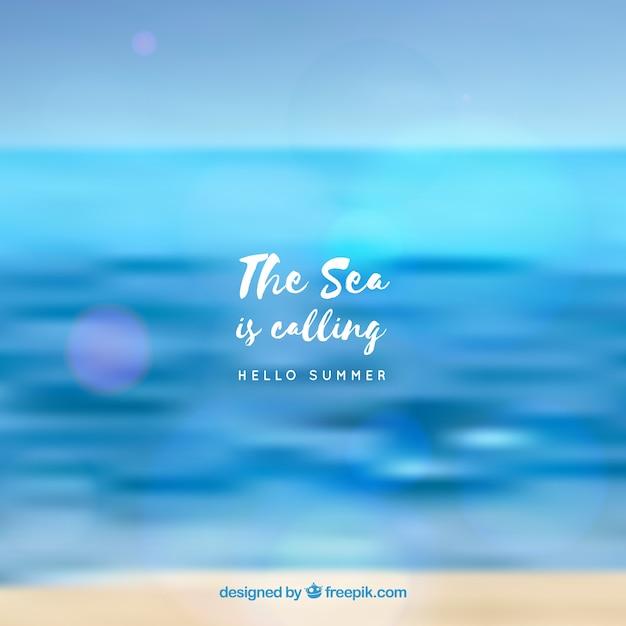 Witam Lato Tło Z Morza Niewyraźne Darmowych Wektorów