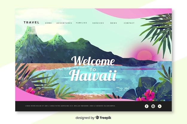 Witamy na stronie docelowej hawajów Darmowych Wektorów