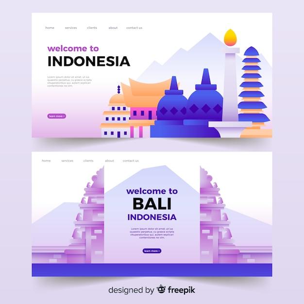 Witamy na stronie docelowej indonezji Darmowych Wektorów