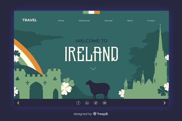 Witamy Na Stronie Docelowej Irlandii Darmowych Wektorów