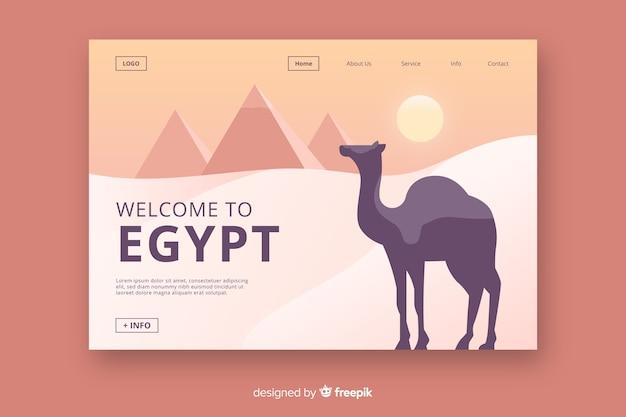 Witamy Na Stronie Docelowej W Egipcie Darmowych Wektorów
