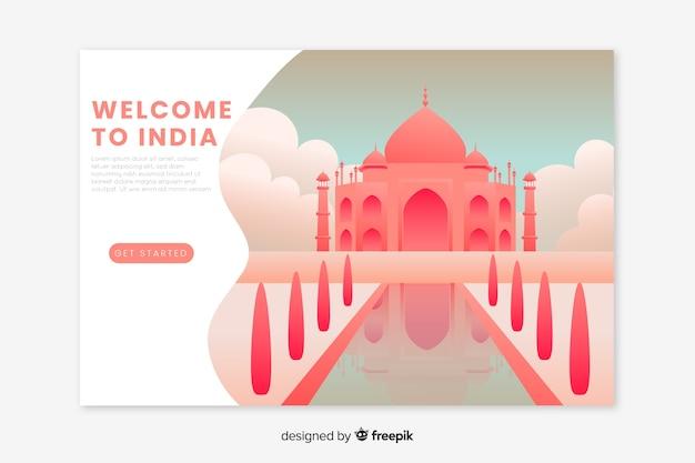 Witamy Na Stronie Docelowej W Indiach Darmowych Wektorów