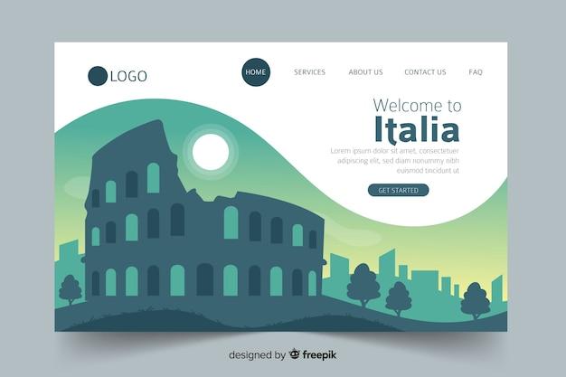 Witamy Na Stronie Docelowej Włoch Darmowych Wektorów