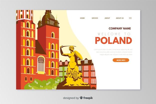 Witamy W Polskim Szablonie Strony Docelowej Darmowych Wektorów