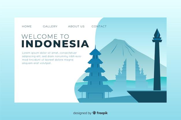 Witamy w szablonie strony docelowej indonezji Darmowych Wektorów