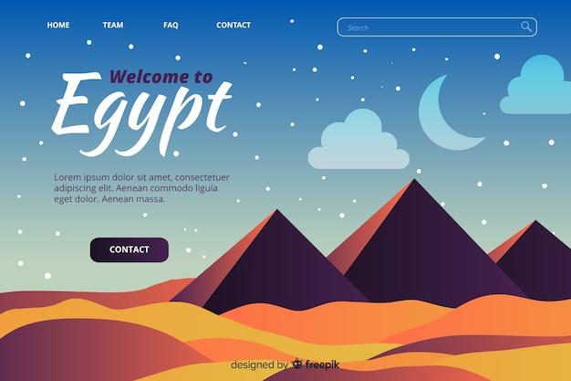Witamy W Szablonie Strony Docelowej W Egipcie Darmowych Wektorów