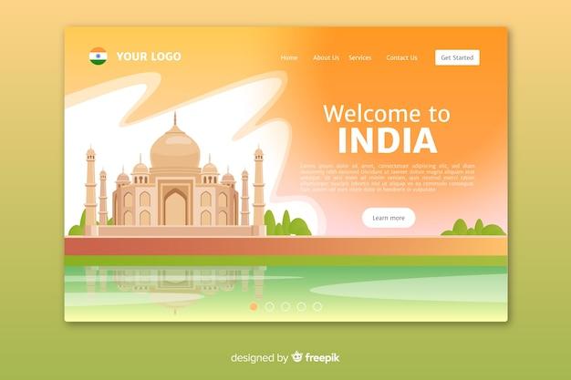 Witamy W Szablonie Strony Docelowej W Indiach Darmowych Wektorów