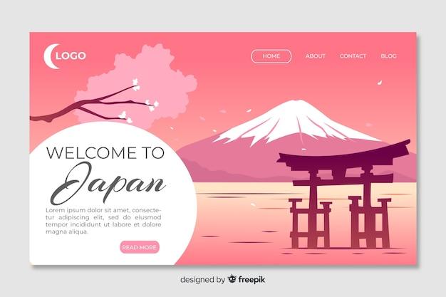 Witamy w szablonie strony docelowej w japonii Darmowych Wektorów