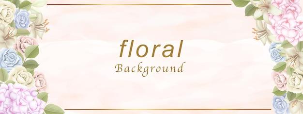 Witamy W Tle Kwiatów Premium Wektorów