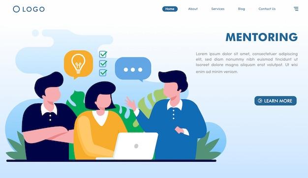 Witryna coachingu mentorskiego Premium Wektorów