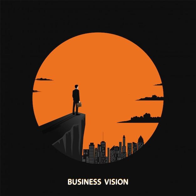 Wizjonerska koncepcja biznesowa Premium Wektorów