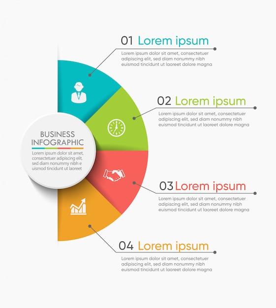 Wizualizacja danych biznesowych Premium Wektorów