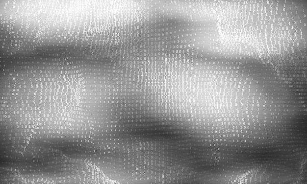 Wizualizacja Wektorów Streszczenie Dużych Danych. Przepływ Danych świecących W Skali Szarości W Postaci Liczb Binarnych. Reprezentacja Kodu Komputerowego. Analiza Kryptograficzna, Hackowanie. Darmowych Wektorów