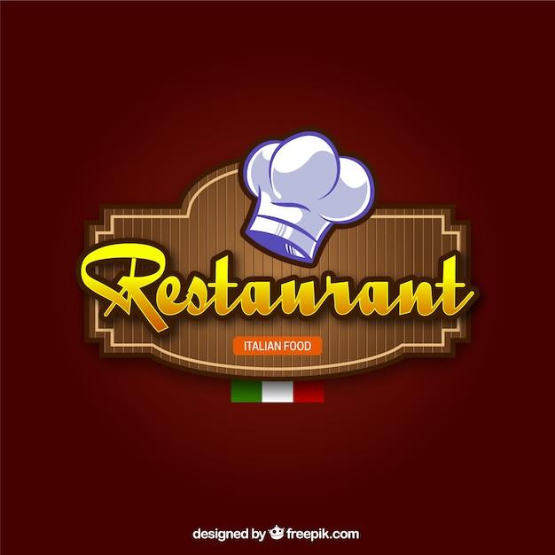 Włoska Restauracja W Tle Darmowych Wektorów