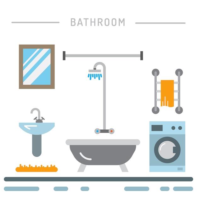 Wnętrze łazienki Premium Wektorów