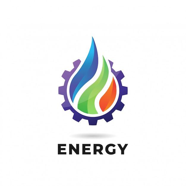 Woda, Ogień, Ziemia. Logo Lub Logotyp Natury Premium Wektorów