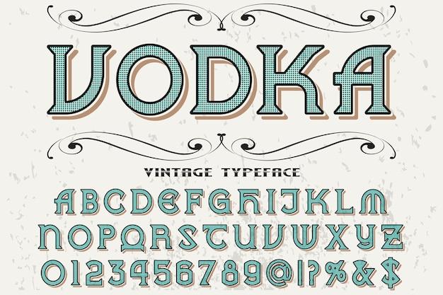 Wódka Do Projektowania Etykiet Czcionek Premium Wektorów