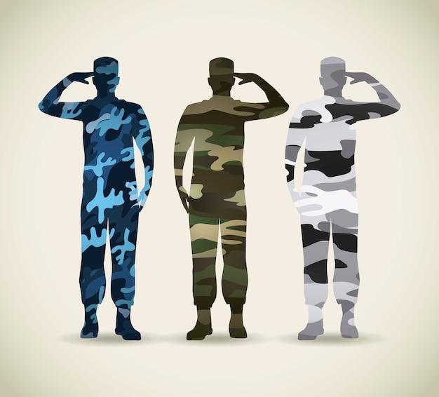 Wojskowy Kamuflaż Premium Wektorów
