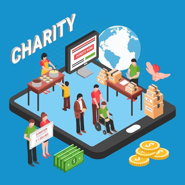 Wolontariusze Zbierają Fundusze Na Pomoc Potrzebującym I Bezdomnym Darmowych Wektorów