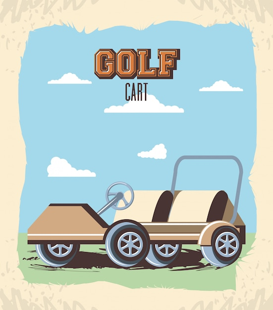 Wózek golfowy w klubie Premium Wektorów