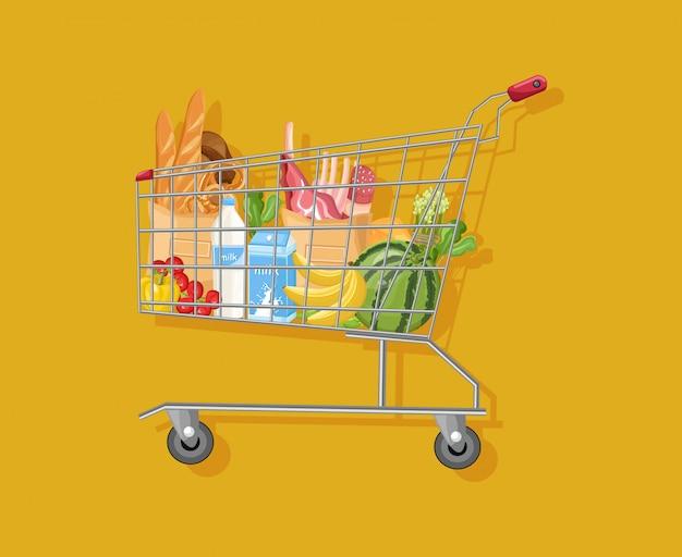 Wózek sklepowy Premium Wektorów